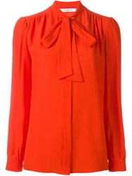 Givenchy Pussy Bow Blouse Yellow And Orange