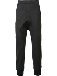Neil Barrett Drop Crotch Track Pants Grey