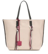 Tod's Gipsy Medium Leather Shopper Beige