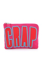 House Of Holland Nylon Pouch With Lettering Pink