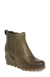 Sorel Women's 'Lea' Waterproof Wedge Bootie Peatmoss