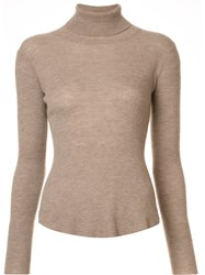 Ulla Johnson 'Mars' Turtleneck Sweater Brown