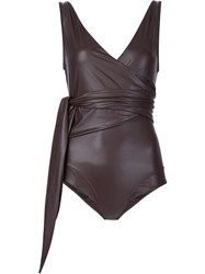 Lisa Marie Fernandez 'Dree Louise Glass' One Piece Brown