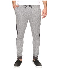 Michael Stars Tech Heatherd Terry Drawstring Pants With Nylon Black Heather Men's Casual Pants