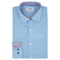 Duchamp Mini Floral Tailored Fit Shirt Powder Blue