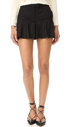Boutique Moschino Ruffle Shorts Black