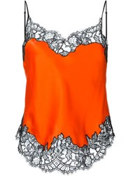 Givenchy Lace Trim Camisole Top Yellow Orange