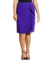 Ralph Lauren Plus Drape Front Pencil Skirt Purple Fusion