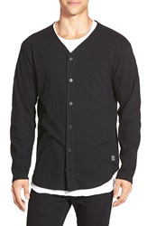 Obey 'Standard Issue' Long Sleeve Baseball Jersey Black