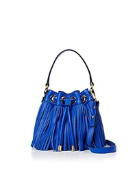 Milly Crossbody Essex Fringe Small Drawstring French Blue