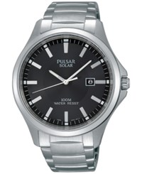 Pulsar Men's Solar Dress Stainless Steel Bracelet Watch 44Mm Px3073 No Color