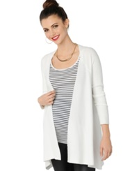 Design History Maternity Ribbed Open Front Cardigan