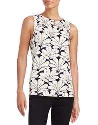 Ivanka Trump Keyhole Accented Sleeveless Top Birch