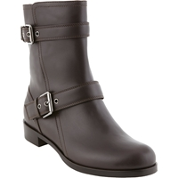Gianvito Rossi Double Buckle Moto Boots Dk.Brown