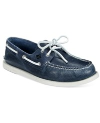 Sperry Men's A O White Cap Boat Shoes Men's Shoes Navy