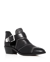 Vince Camuto Raina Studded Low Heel Booties Black Silver