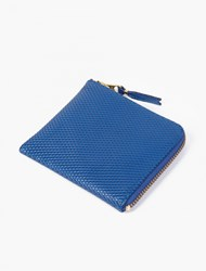 Comme Des Garcons Blue Small Leather Luxury Coin Wallet