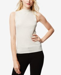 Bar Iii Sleeveless Mock Neck Sweater Only At Macy's Vintage Cream