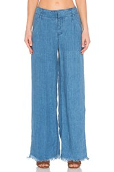 Free People Relaxed Linen Pant Blue