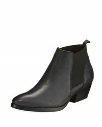 Aquatalia By Marvin K Fionna Weatherproof Leather Bootie Black