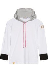 Monreal London Perforated Stretch Jersey Hooded Top