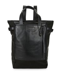 John Varvatos Convertible Leather Backpack Black