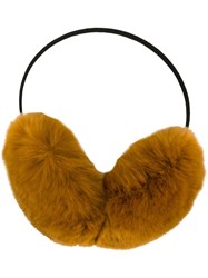 Yves Salomon Fur Earmuffs Nude And Neutrals
