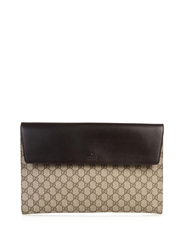 Gucci Monogram Gg Canvas And Leather Pouch