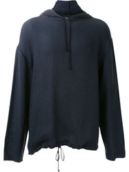 3.1 Phillip Lim Oversize Knitted Hoodie Blue