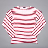 Armor Lux Mariniere Top In White And Red