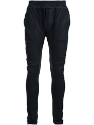 Julius Drop Crotch Skinny Trousers Black