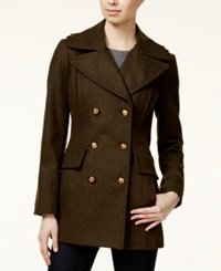 Bcbgeneration Pleated Military Peacoat Army