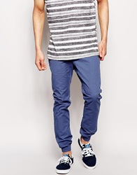 Only And Sons Cuffed Chinos In Straight Fit Truenavy