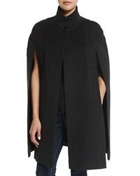 Fleurette Stand Collar Wool Cape