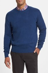 Peter Millar Classic Fit Silk Crewneck Sweater Blue