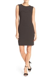 Donna Ricco Women's Sleeveless Shift Dress Black