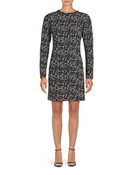 Collective Concepts Marled Long Sleeve Sheath Dress Black