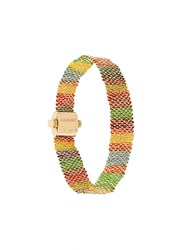 Carolina Bucci 18Kt Yellow Gold 'Woven' Bracelet Multicolour