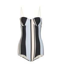 Dolce And Gabbana Printed Swimsuit Black