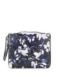 Ivanka Trump Floral Leather Portfolio Black
