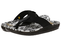 Dr. Martens Mana Toe Post Black Black Webbing Wyoming Men's Sandals