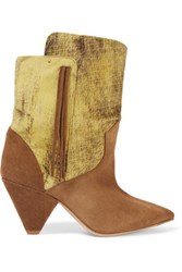 Jerome Dreyfuss Bonnie Suede Boots Brown