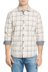Jeremiah 'Hartson' Regular Fit Windowpane Sport Shirt Metallic