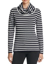 Chelsea And Theodore Striped Pullover Compare At 78 Mist Gray Heather
