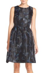 Women's Cece By Cynthia Steffe Print Organza Fit And Flare Dress