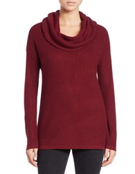 Lord And Taylor Plus Drop Shoulder Cowl Neck Sweater Cabernet