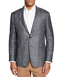Todd Snyder Gray Plaid Slim Fit Sport Coat Silver Grey