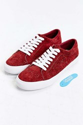 Urban Outfitters Uo Suede Court Sneaker Maroon