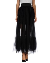 Mangano Long Skirts Black
