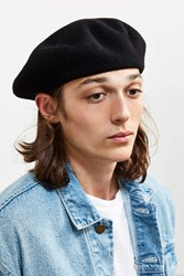 Urban Outfitters Uo Classic Beret Black